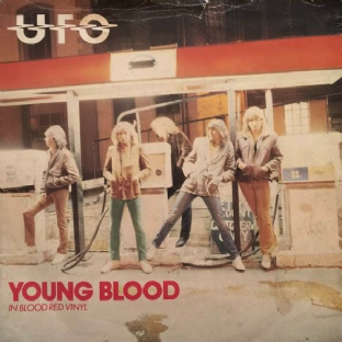 "UFO - Young Blood (7"") (Red Vinyl) (F+/G-)"